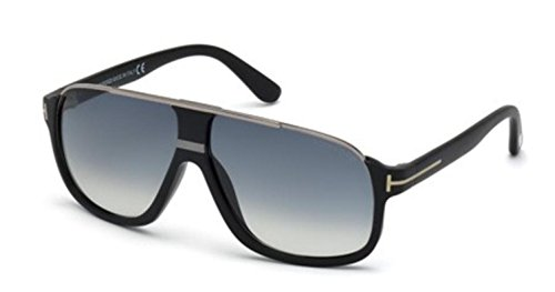 Tom Ford Tf 335 Eliott Matte Black/Silver Frame/Gray Lens - Black Sunglasses Ford Tom