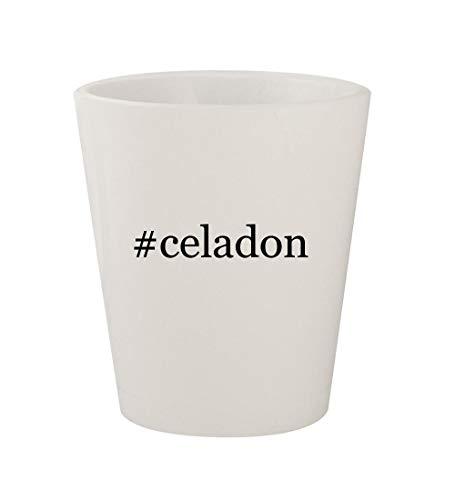 #celadon - Ceramic White Hashtag 1.5oz Shot Glass