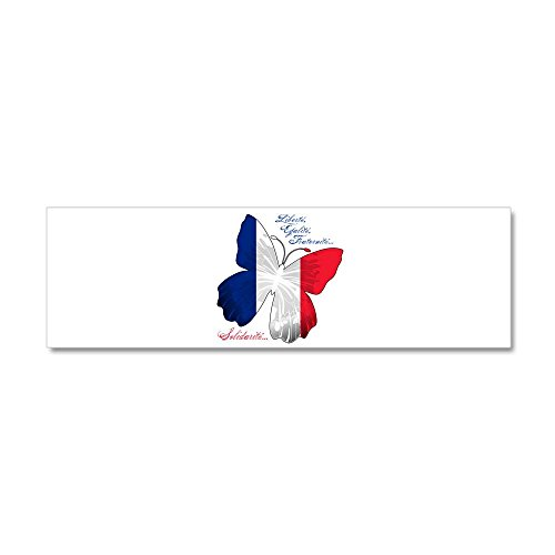 (36 x 11 Wall Vinyl Sticker French Flag Butterfly Solidarite)