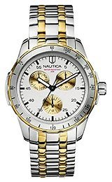 Nautica Men's N14588G Windseeker Silver Dial Watch