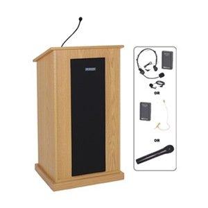 AmpliVox - SW470-OK/S1605 - Lectern w/Sound, Oak, 45x24x20 (S1605 Lectern)