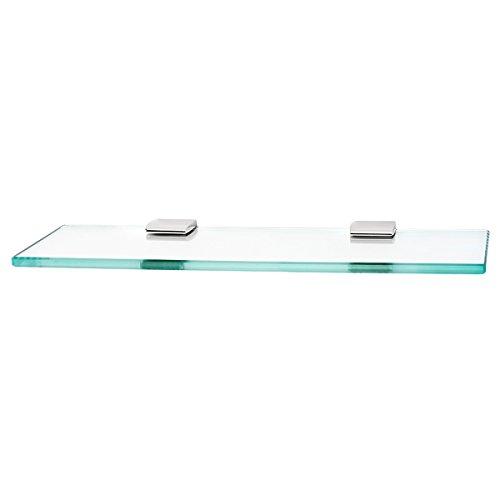 Alno A7450-18-PC Manhattan Glass Shelf with Brackets Modern, Polished Chrome, 18