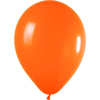 orange 12 inches metallic helium quality latex balloons pack of 50