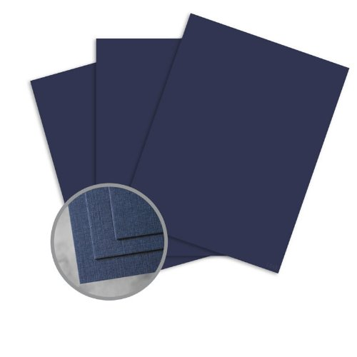 (CLASSIC Linen Patriot Blue Card Stock - 8 1/2 x 11 in 80 lb Cover Linen 30% Recycled 250 per Package)
