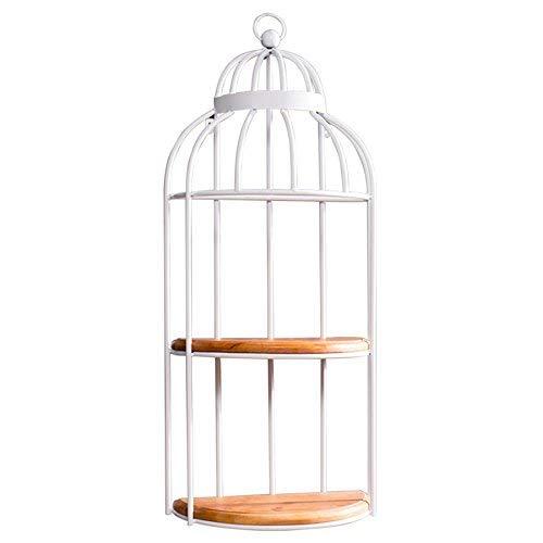 Retro Creativo Jaula de Pájaros Estante de la Pared Decoración Del ...