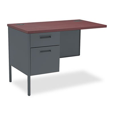 Metro Classic Series Workstation Return, Left, 42w x 24d, Mahogany/Charcoal, Sold as 1 Each by Generic