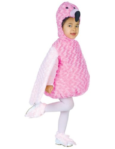 Tropical Themed Halloween Costumes (Underwraps Costumes Baby's Flamingo Belly-Babies, Pink, Medium)