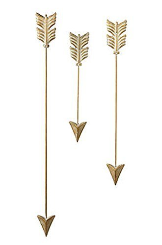 Gold Wash Iron Arrow Wall Set
