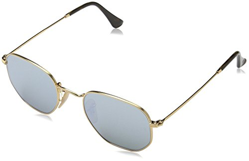 Ray-Ban Unisex RB3548N Hexagonal Sunglasses - Gold, - Ray Ban 54mm Clubmaster