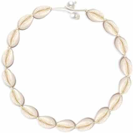HSWE Pearls Cowrie Shell Choker Necklace for Women Puka Shell Necklace Seashell Necklace for Girls Adjustable Handmade Hawaiian Jewelry