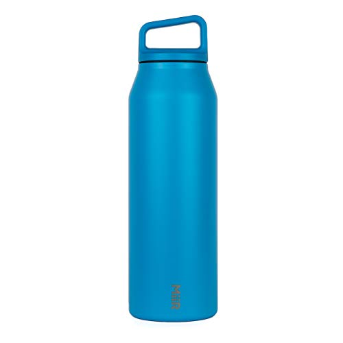 MiiR Insulated Wide Mouth Bottle with Screw Top Lid, Blue, 42oz