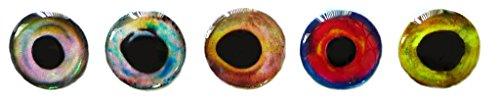 Fly Salmon Flies Tying - Brule 3-D Hard Epoxy Eyes (Combo2, 3mm)