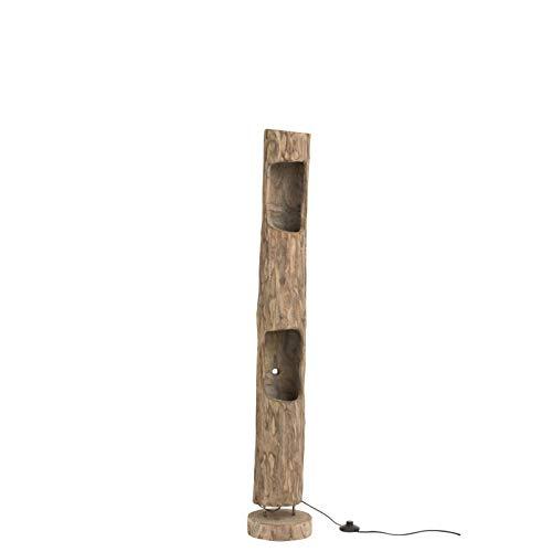 Lámpara tronco de madera paulownia con 2 agujeros: Amazon.es ...