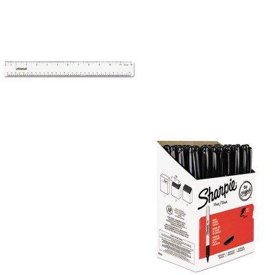 KITSAN1884739UNV59022 - Value Kit - Sharpie Permanent Marker (SAN1884739) and Universal Acrylic Plastic Ruler (UNV59022)