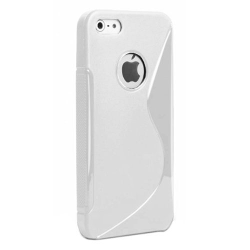 G4GADGET® Apple Iphone 5C White Silicone Gel S Line Grip Case Cover For Apple Iphone 5C