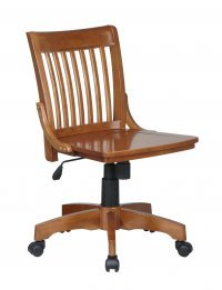 s Fruitwood Bankers Chair With Wood Seat-101-FW ()