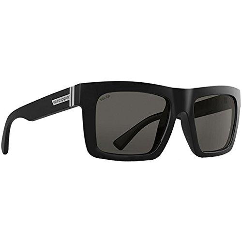 VonZipper Mens Donmega Polarized Sunglasses Black Gloss Wildlife / Vintage - Wayfarer Von Zipper