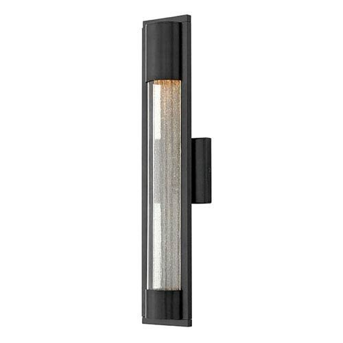 Hinkley 1224BZ Contemporary Modern One Light Outdoor Wall Mount from Mist collection in Bronze/Darkfinish,