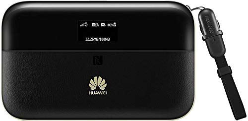 Huawei E5885 Ls-93a 300 Mbps 4G LTE Mobile WiFi Hotspot (4G LTE in Europe, Asia, Middle East, Africa & 3G globally, 25 hours 6400 mAh battery) (Black)