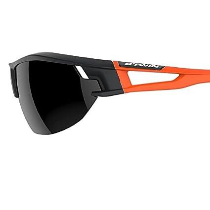 DECATHLON BTWIN Ciclismo 700 naranja adulto ciclismo gafas de sol categoría 3 – Negro y Naranja