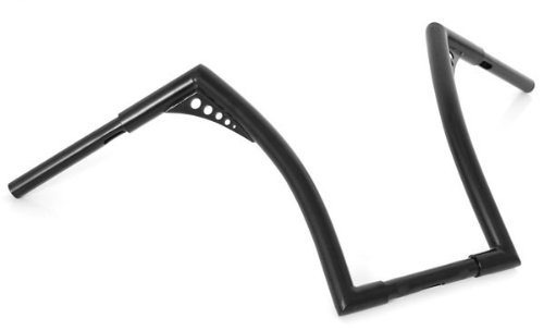 El Diablo Black 16'' Rise Universal Ape Hangers 1-1/4'' Diameter Handlebars for Harley Motorcycles by Demons Cycle