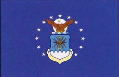 Cheap 3′ X 5′ Air Force Flag with Pole Sleeve – Nylon
