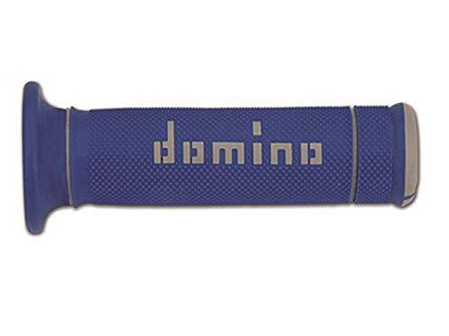 Domino COPPIA MANOPOLE BICOLORE BLU//BIANCO PER MOTO TRIAL IN MATERIALE BICOMPONENTE Lunghezza 97.5595.04-00 125 mm Accessori