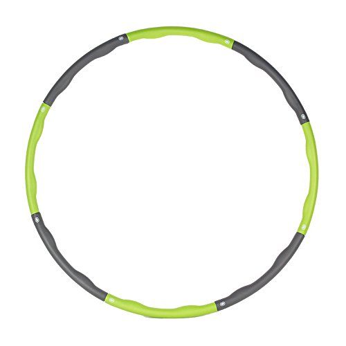 Hula Hoop - Heavy Fitness Hoop Weight Loss Workout Equipment , Easy to Use Exercise Hoop - Fun, Easy Way to Workout - Dance, Twist, Stretch, & Sweat (Green)