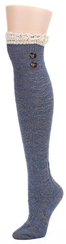 Leotruny Womens Wool Button Socks