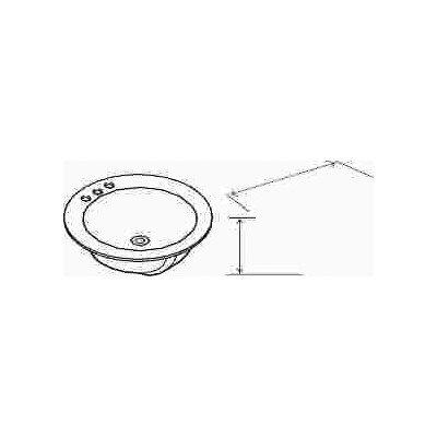 Premier 1800 Bathroom Sink Drop in Acrylic, 19