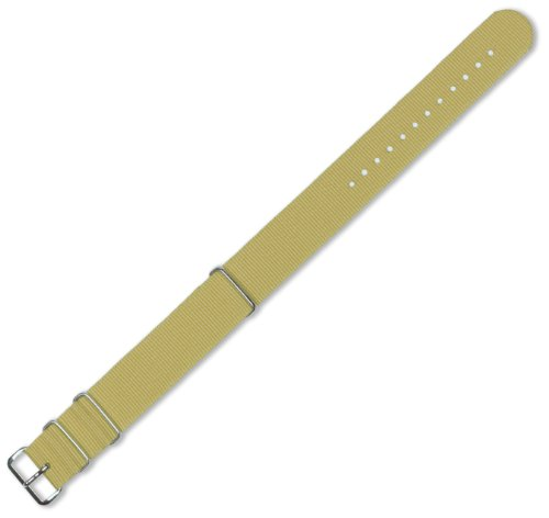 Military MoD G10 Ballistic Nylon Watch Strap - Khaki 20mm Watch band - by deBeer