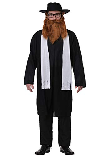 FancyDress-Party Adult Rabbi Costume Standard Black