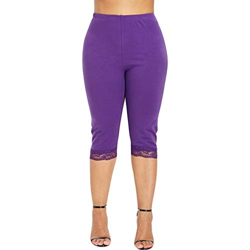 CCatyam Yoga Pants for Women, Plus Size Trousers High Waist Solid Sport Fitness Sexy Fashion Purple