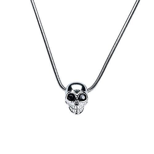 G&S Punk Skull Skeleton Pendant Hip Hop Rapper Necklace Couple Necklace for Men Silver by G&S