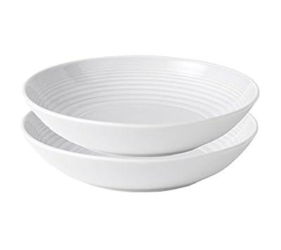 Royal Doulton Maze White Open Vegetable Bowl, 24-ounce, Set of 2