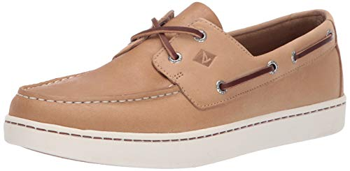 Sperry Men's Sperry Cup 2-Eye Boat Shoe, Linen, 12 Medium US