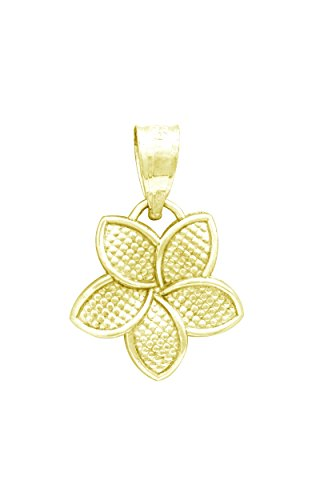 Yellow Plumeria Flower Necklace Pendant