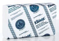 1018166 PT# 1890 Towel Hand Kleenex 1 Ply Fiber 9-1/5x9-2/5'' Multifold Wht 2400/Ca Made by Kimberly Clark Professional by BND- Kimberly Clark Professional