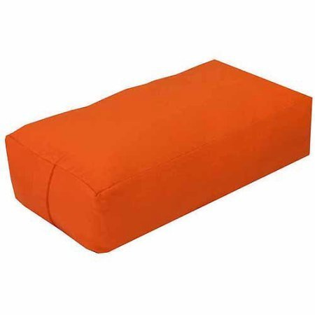 YogaDirect Supportive Rectangular Cotton Yoga Bolster, Removable and Washable Cover, Great for restorative yoga (Sinopia)