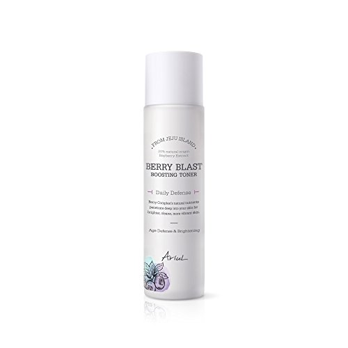 Ariul Hyaluronic Acid Berry Blast Boosting Toner 5.24 lf. oz. 7 Organic Giga-white Extracts from Alps, Natural Facial Brightener, Antioxidant, Panthenol, Collagen to Balance pH (Hyaluronic Acid Berry)