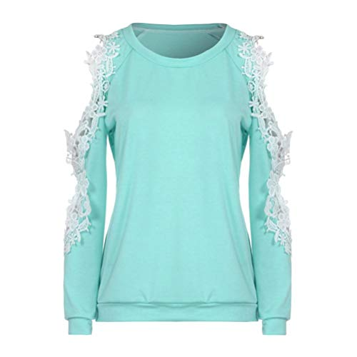 Zlolia-Blouses Preferential New Women Off Shoulder Lace Top Long Sleeve Blouse Ladies Casual Tops Shirt by Zlolia-Blouses (Image #2)