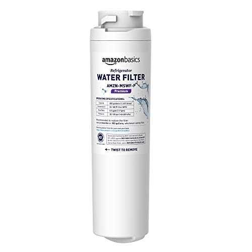 AmazonBasics Replacement GE MSWF Refrigerator Water Filter Cartridge - Premium Filtration
