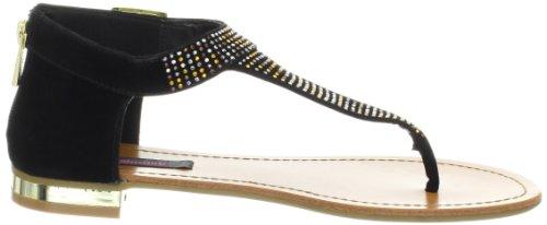 Dollhouse Womens Delight Thong Sandale Noir