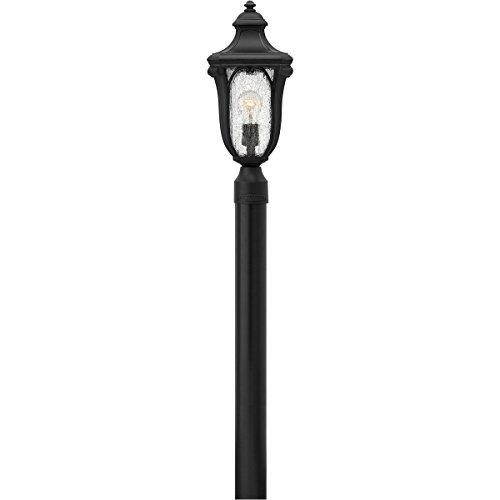 - Hinkley 1317MB Transitional One Light Post Top/ Pier Mount from Trafalgar collection in Blackfinish,