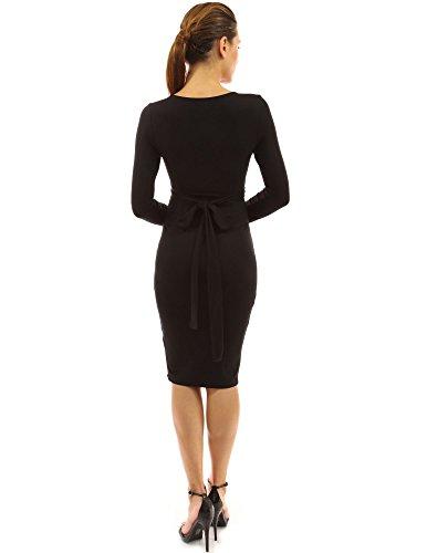 PattyBoutik MD-1332-DBL-XL - Vestido para mujer Negro