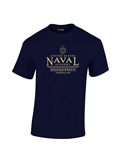 NCAA Navy Midshipmen Classic Seal T-Shirt, XX-Large, Navy