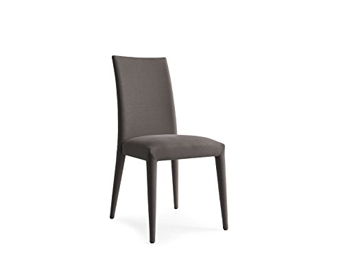 Calligaris Fabric Chair - Upholstered chair, completely covered in gray Oslo fabric