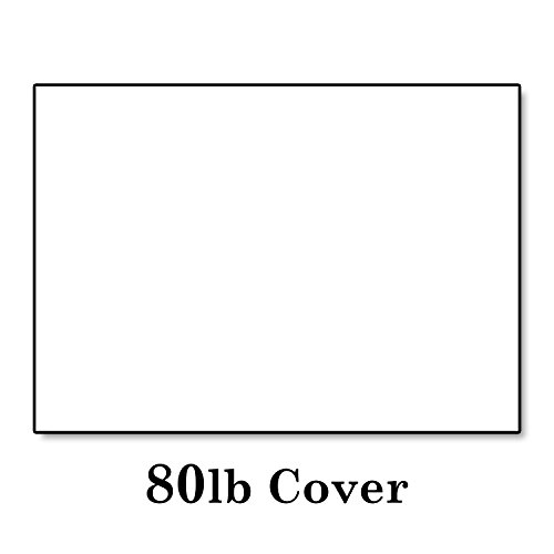 Hamilco Bright White Cardstock Cards: 100-Pack 5 1/2