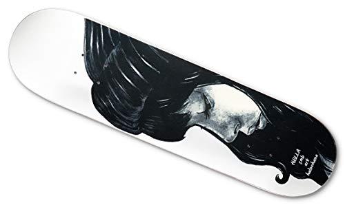 分類する音一元化するスケートボード デッキ【SM BLANKS×HALNOHANA】ハイテク8層 HELLA 白 しっかりキック/コンケーブ