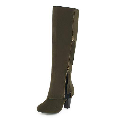 Hoesczs Botas 34 Mujer 2018 Caña Zapatos Ocio Invierno 44 Army Grandes Alta Retro Green Dropship Tamaños De rFRrzwqHTx